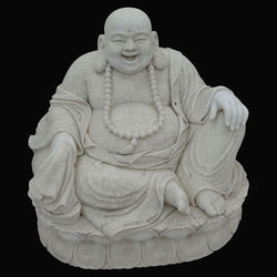White Marble Laughing Budhha