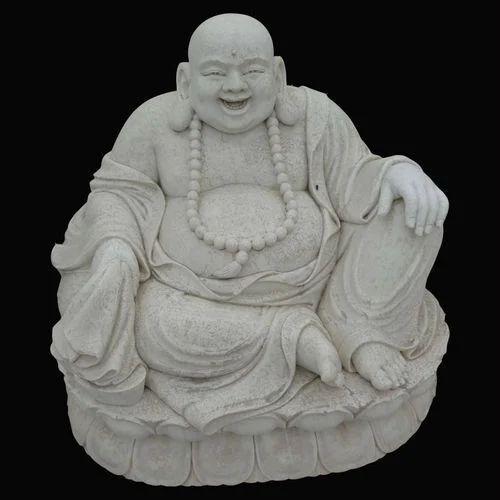 White Marble Laughing Budhha