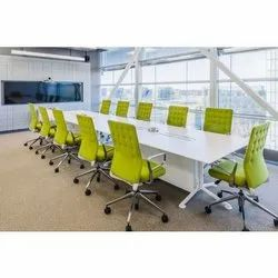 Green And White Conference Table