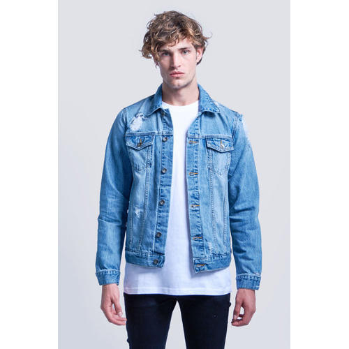the best attitude 57031 fdb4a Men Short Denim Jacket