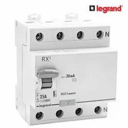 Legrand RX3 30mA 25 A Four Pole RCCB