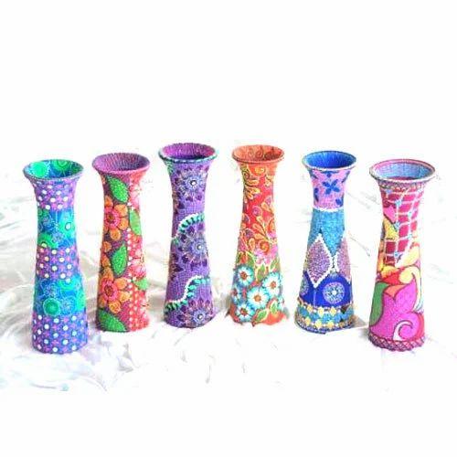 Multicolor 10 Inch Handicraft Wooden Vase Rs 450 Piece Id