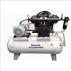 Roteck AC Three Phase 15 HP Piston Compressor, Maximum Flow Rate (CFM): 55, Model Name/Number: RAC115