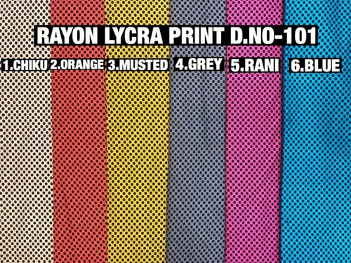 Rayon Lycra Print