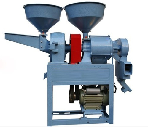 Combined Mini Rice Mill and Flour and Masala Chakki, Capacity: 80-200 Kg/hour