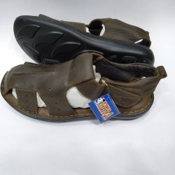 5ec33357c Genuine Leather Men Brown Leather Sandals