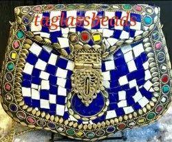 Handmade Indian Mosaic Vintage Hand Bag