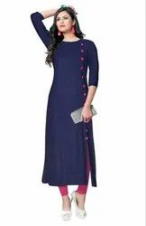 Regular Wear Heavy Rayon 14kg Ladies Kurti