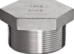 Stainless Steel ASTM A182 F304 Plug, Size: 1/2 to 4 inch NB