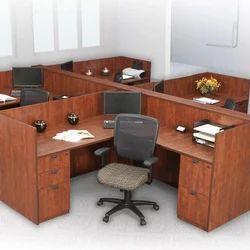Ampio Wooden Office Workstation