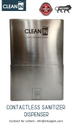 Clean-In Automatic Sanitizer Dispenser Wall Mounted Model Capacity: 6 L