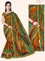 Printed Cotton Saree, Hand Made, Without Blouse