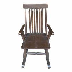 Wood Rocking Brown Chair