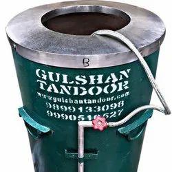 S Steel Top Gas and Charcoal Drum Tandoor