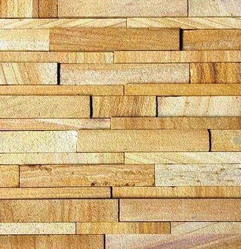 Teak Wood Sandstone Wall Panels