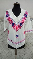 Cotton Hand Embroidered Top