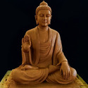 Brown Marble Lord Buddha Statue