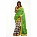 The Rcpc Designer Aces Bhagalpuri Silk Green Saree
