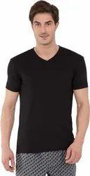 V Neck Black Plain T Shirt,Styles Look
