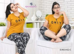 T-Shirt and Kepri with Payjama Night Wear