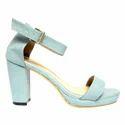 Light Olive Block Heel Sandals