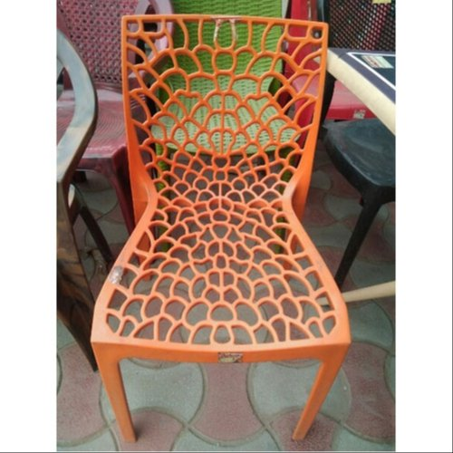 Orange PVC Designer Plastic Chair