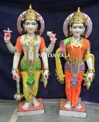 Lakshmi Maa Vishnu Ji Marble Statues