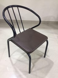 Metal Black Desginer Dining Chair, Size: Standard, for Restaurant