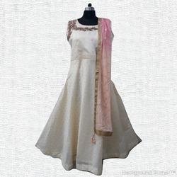 Silk Party Wear Ladies Embroidered Suits