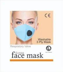 Europa Respiratory 3 Ply Face Mask