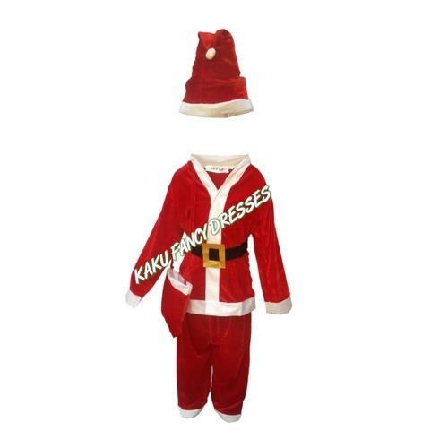 11246bb279d Kaku Fancy Dresses Polyester Kids Santa Costume