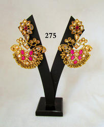 Radiant Impex Traditional Earrings, Packaging Type: Box