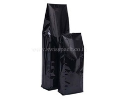 Shiny Black Side Gusset Bags
