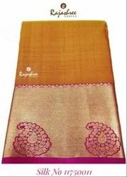 Party Wear Printed D-175001-2 Silk Saree, With blouse piece, 5.2 M (separate Blouse Piece)