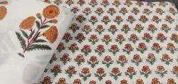 Cotton Dress Material Hand Block Printed