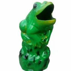 Green FRP Frog Dustbin