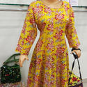 Block Printed Long Kurti