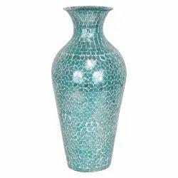 Slate Gray New Tareen Glass Flower Pot