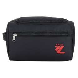 Anva Toiletry Bag Travel Organizer Shaving Kit  DOPP Kit (Black )