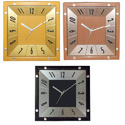 Decorative Wall Clock Square Shape Plastic