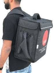 Nylon Black Insulated Delivery Bags