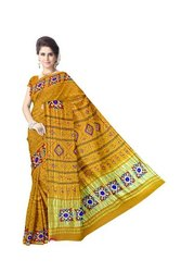 Aabhla And Thread & Kachhi Work Design Gaji Silk Bandhani Saree
