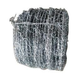 Silver Iron Barbed Fencing Wire