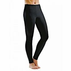 Cotton Lycra Churidar Ladies Black Plain Casual Leggings
