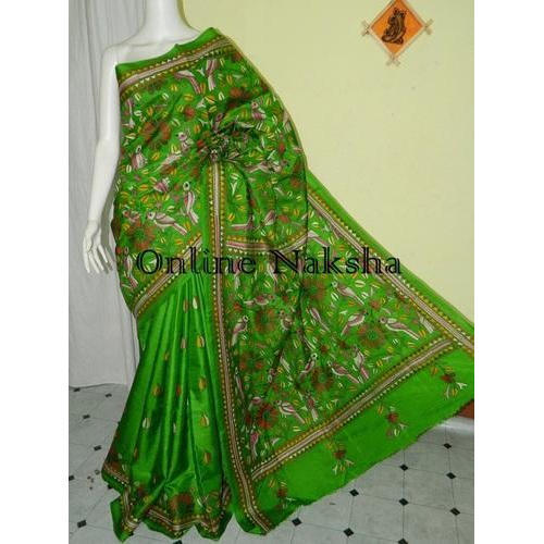 Silk Hand Embroidery Saree Rs 5900 Piece Online Naksha Id