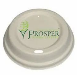 White Paper Bagasse Coffee Cup Lids, for Event and Party Supplies
