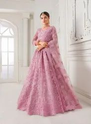 Magnificent Net with Silk Embroidered Weeding Wear Lehenga Choli
