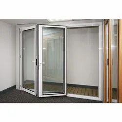 Powder Coated Aluminium Doors, Thickness: 20-55 Mm