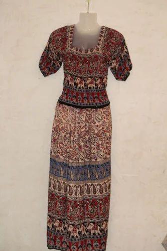 18230fc333e Rajasthani Crepe Rayon Dress