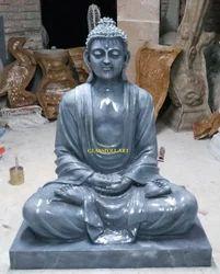 Multicolor Fiber Gautam Buddha Statue